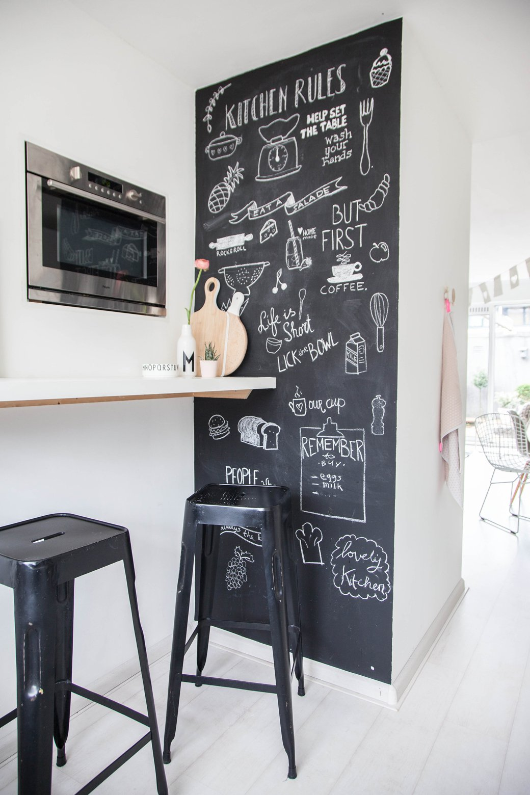 kitchen blackboard table sets with bench espresso moments