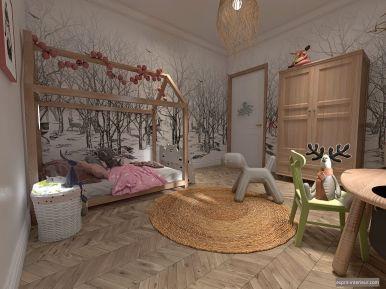 chambre petite fille Forest bohème