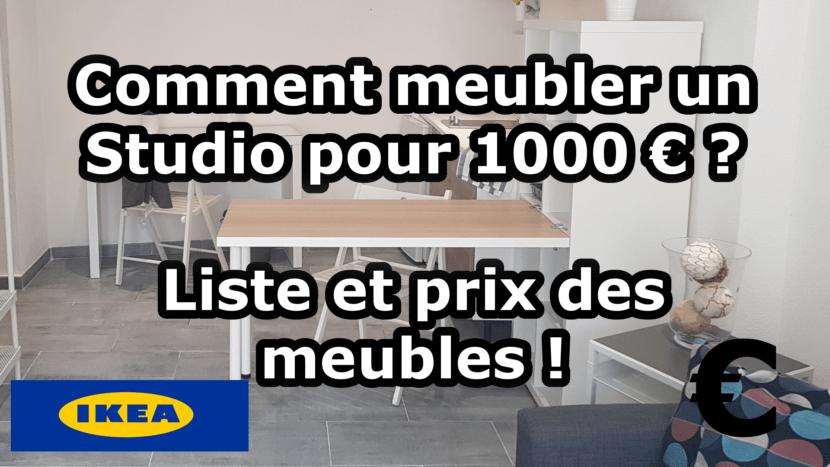 Meubler Un Studio Pour 1000 €  Liste Et Prix Des Meubles
