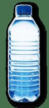 Les bouteilles en plastique.
