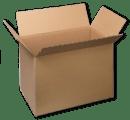 Les cartons d'emballage.