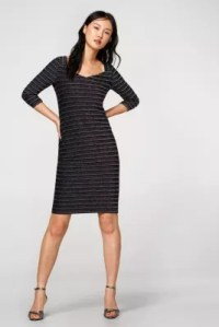 Esprit - Stretchy dress in colourful striped lurex at our ...