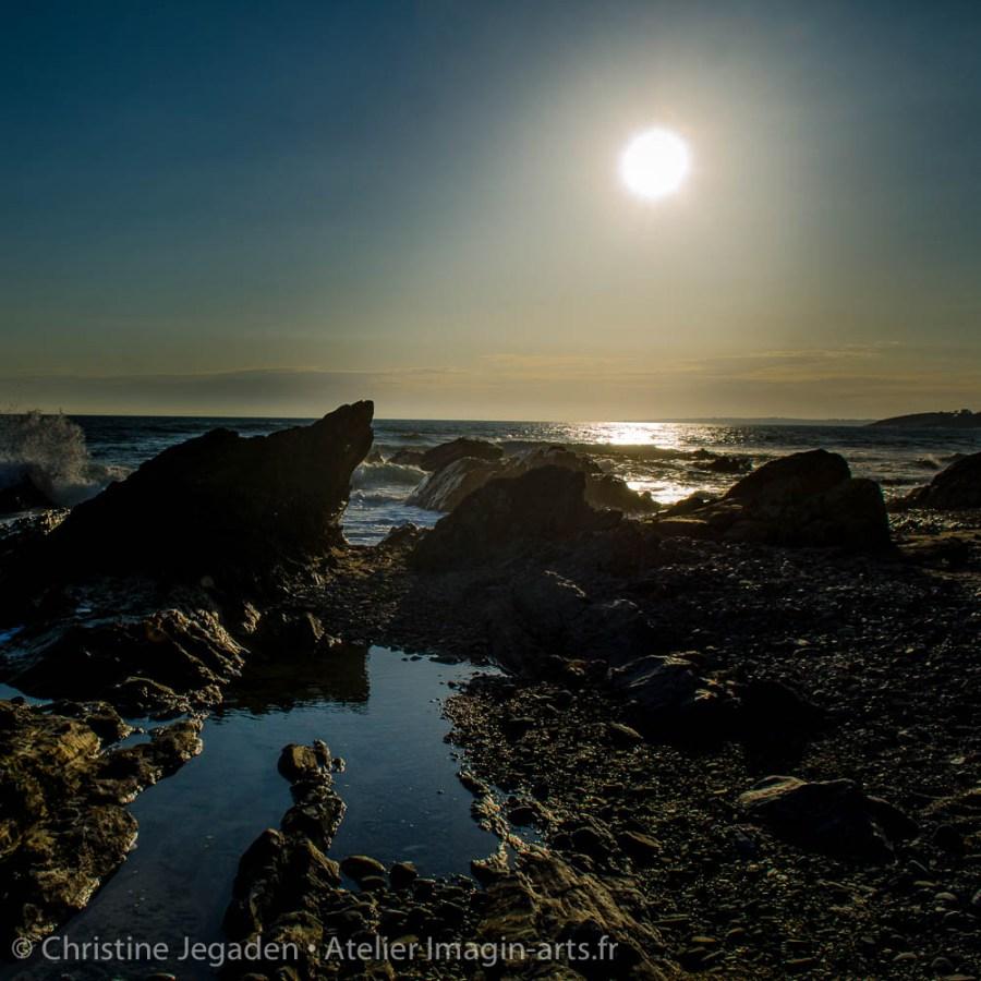 photographie Christine Jegaden coucher de soleil en bretagne
