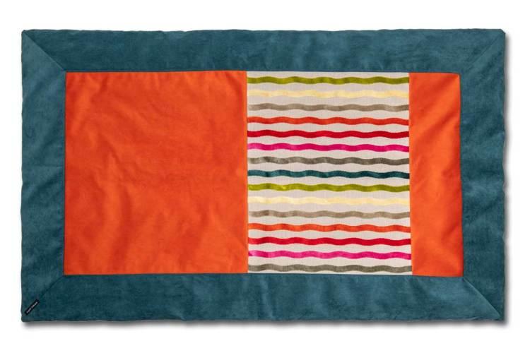 Plaids coloré Lin et velours couleurs Celtiques dessus