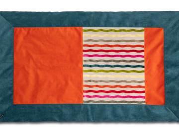 Plaid coloré Lin et velours couleurs Celtiques dessus