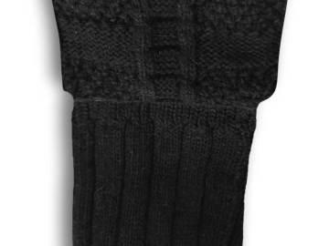 Chaussettes Noires hautes à revers pour kilt