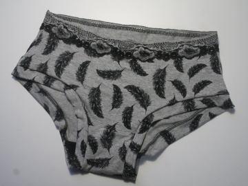 culotte motif plumes
