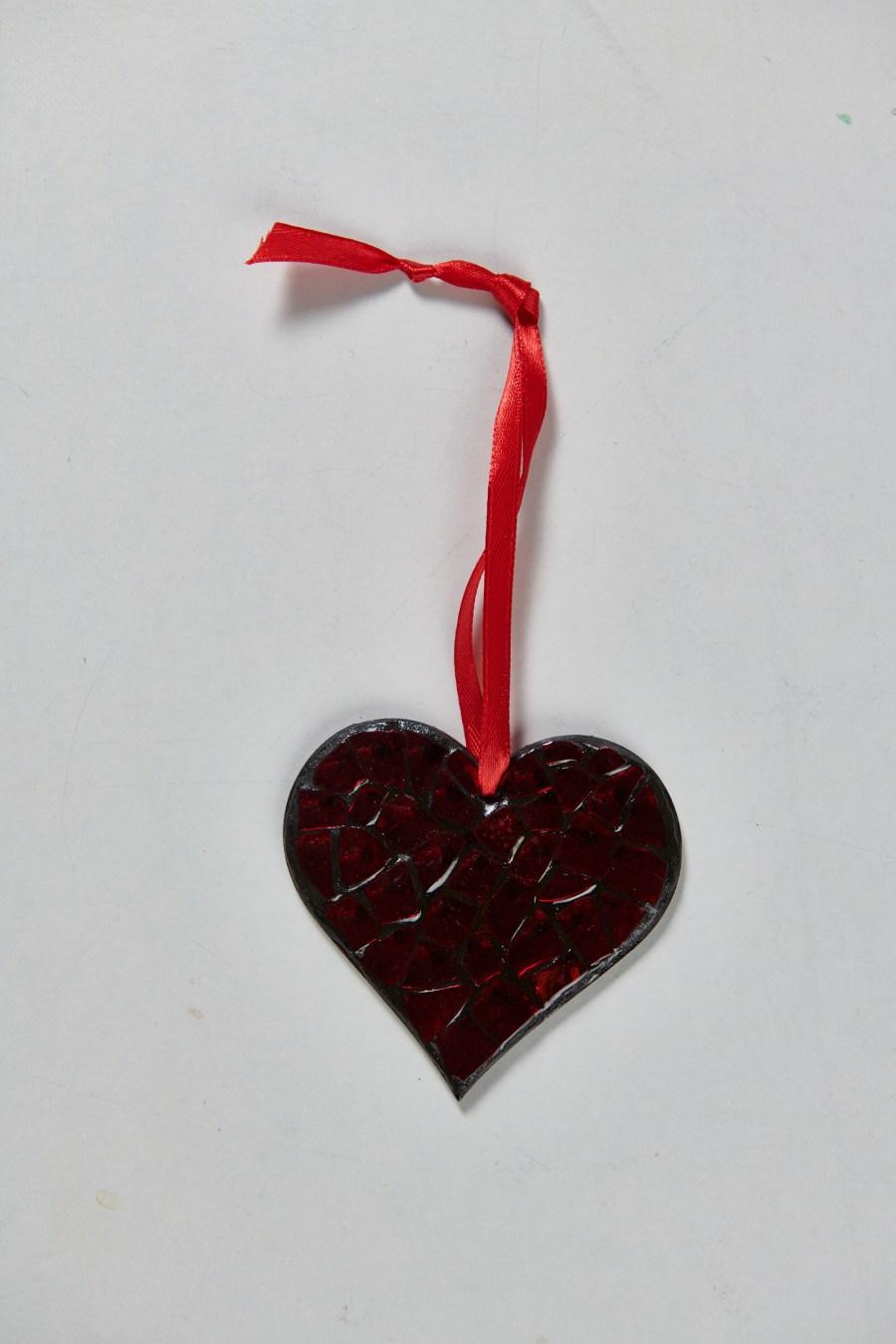 Muriel Bigot MB Mosaïques Coeur rouge