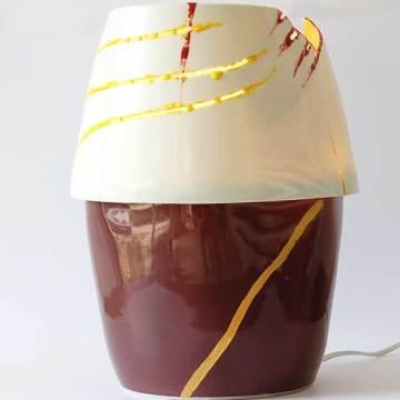 lampe HHH1 pièce unique dorure acrylique