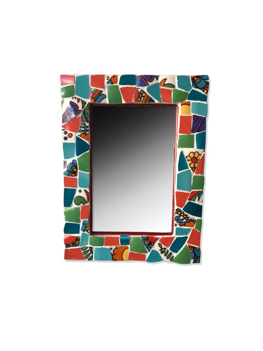 Miroir mosaique Acapulco multicolore