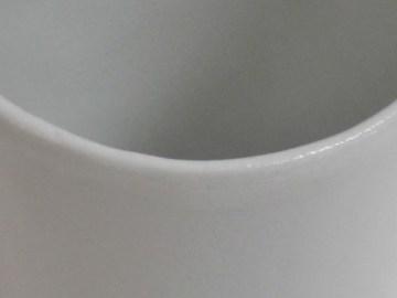 gobelet à café blanc mat