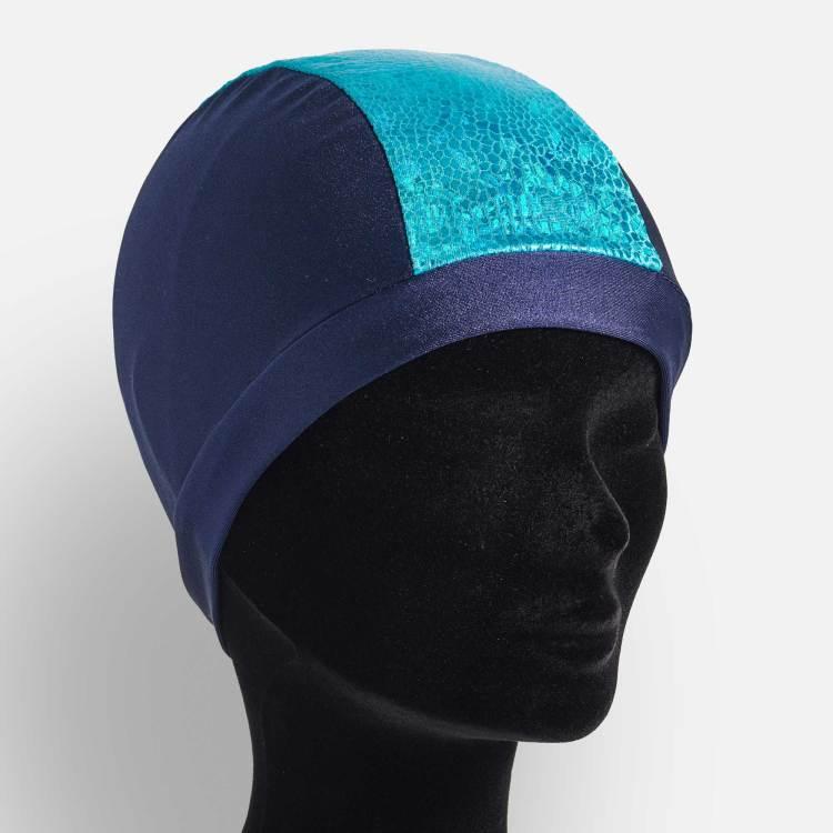 Bonnet de bain bleu-marine mosaïques Bleu océan-Esprit Celtique