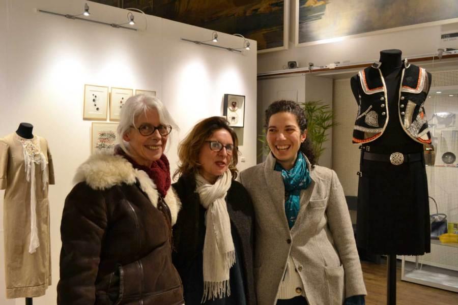 L'Incubateur à idées, Boutiques de créateurs, Christine Jegaden, Guënn Tillenon et Constance Fohlen.