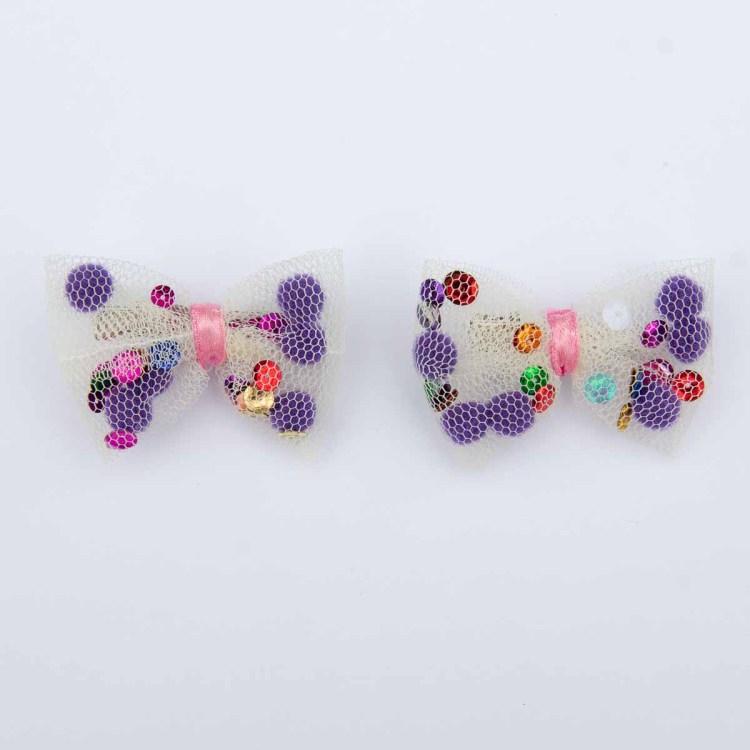 Noeud-papillon-Barrettes-Accessoires-de-coiffurecréation Christine Jegaden