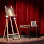 aperçu de la table gigogne et du tableau Dahut lors d'une exposition été 2020