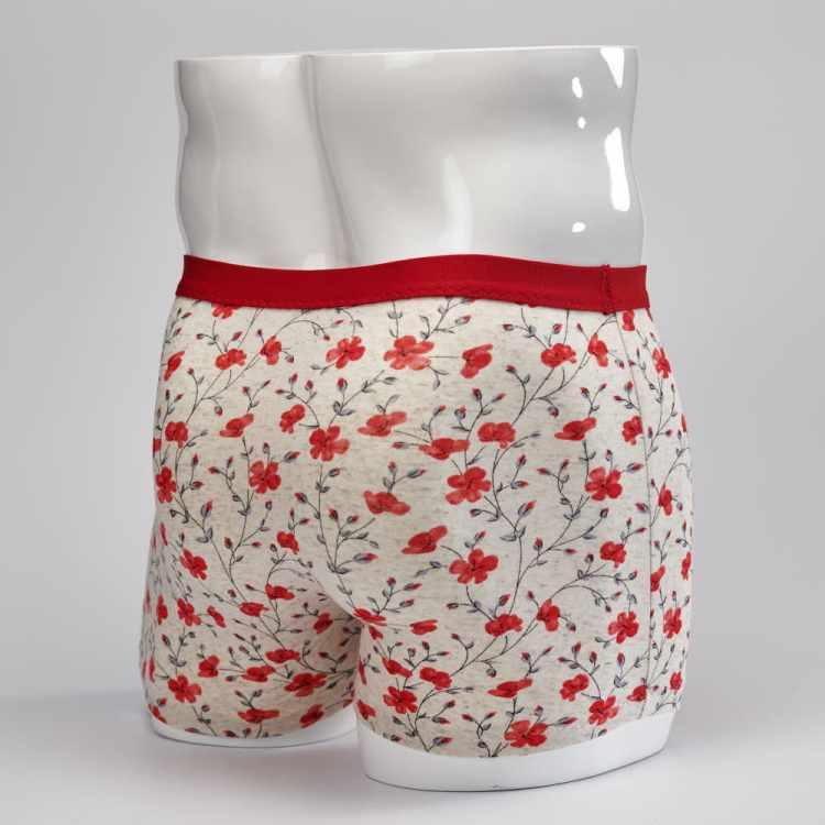 Boxer homme fleurs rouges