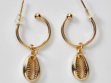 Boucles d'oreilles coquillage Cauris