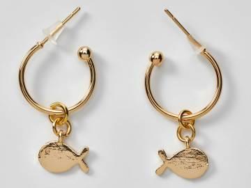 Boucles d'oreilles créoles poisson