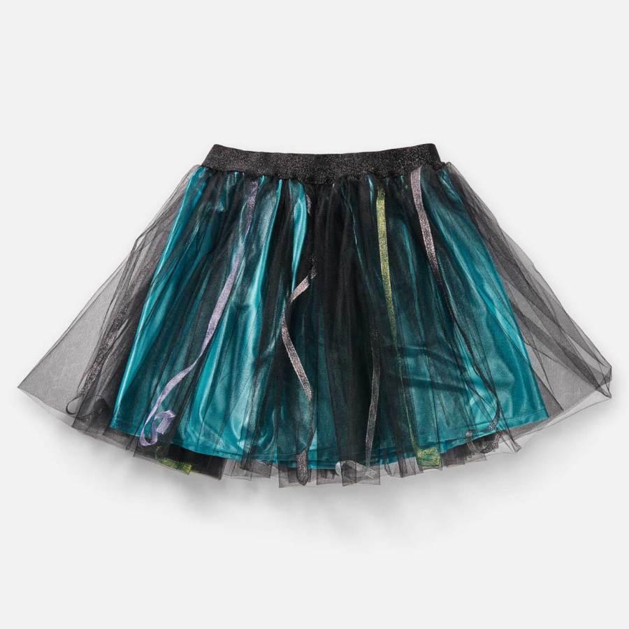 Jupe Lucie Esprit Celtique-Turquoise avec des rubans multicolores