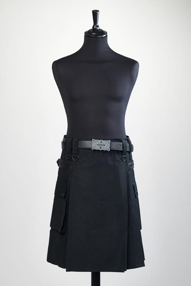 Kilt noir en coton