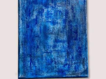 tableau peinture abstraite - Azul-