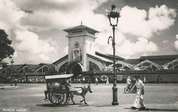 Le marché de Saïgon.
