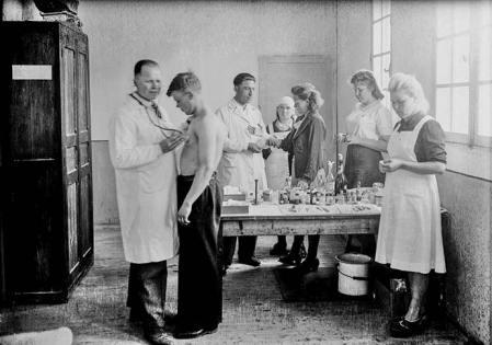 L'équipe médicale russe du camp