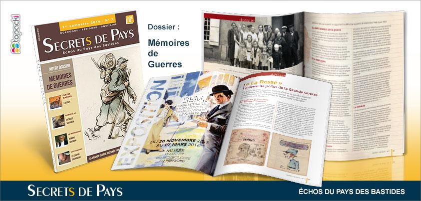 Le numéro 7 de « Secrets de Pays » et son dossier thématique « Fêtes & Traditions populaires »…