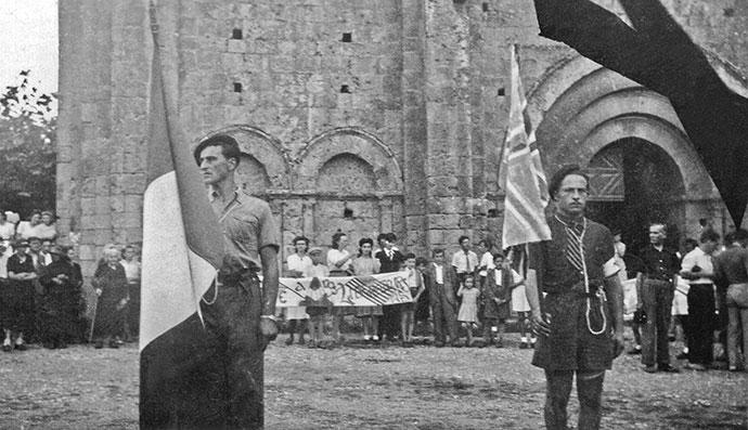 Réception en l'honneur des parachutistes de Cadouin, Photo © Lucienne Imberty