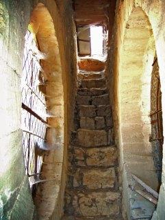 Passage secret conduisant à l'une des deux tours de guet