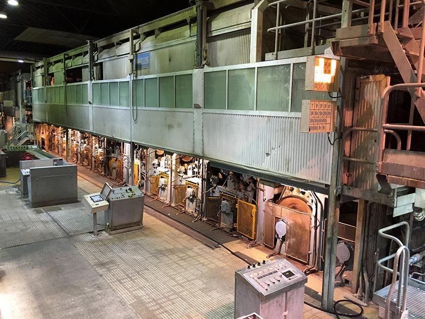 L'une des machines du groupe suédois Munksjö à l'usine de Rottersac