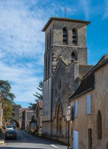 Église de la bastide de Molières en Dordogne-Périgord