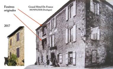 L'Hôtel de France à Monpazier où Lawrence séjourna