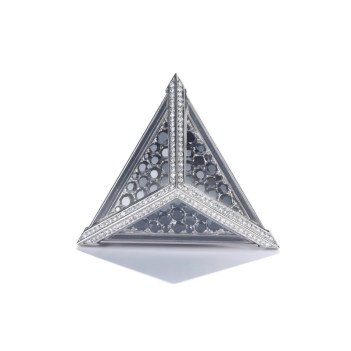"CATHERINE GOURGOURY Bague ""Triangle""Or, Diamants Crédit MCM"
