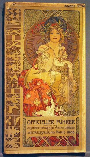 Alphonse Muccha Image de Couverture du guide de la section Autrichienne de l'exposition universelle de 1900