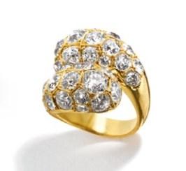 Toi et Moi Ring Diamond, Gold Serti Couteau © Belperron