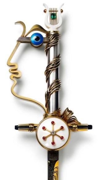 Épée de Jean Cocteau © Cartier