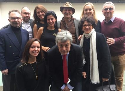 Myrtille Mousson en compagnie des membres du Jury du Savoir-faire et de la création.