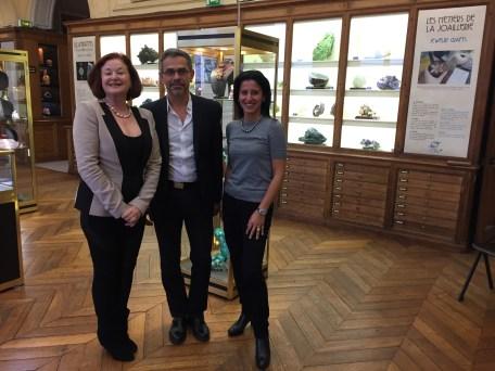 Paula Crevoshay joaillière, Didier Nectoux Conservateur du Musée Mines ParisTech et Esprit Joaillerie
