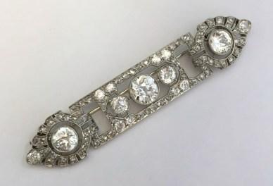 Maison Miller Broche Mauboussin Diamants, Platine. Vers 1929.