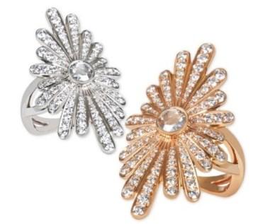 """Bague John Rubel """"Yoko"""" Diamants, Or Rose / Or Blanc."""