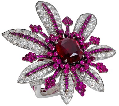 "Bague John Rubel ""La Divine"" Rubis, Diamants, Or Blanc."