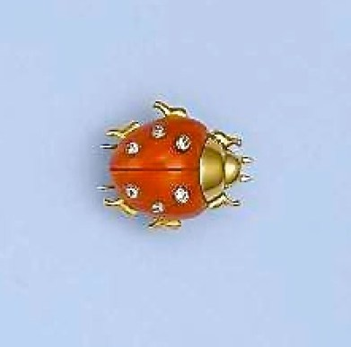 Broche Cartier Or, Corail et Diamants