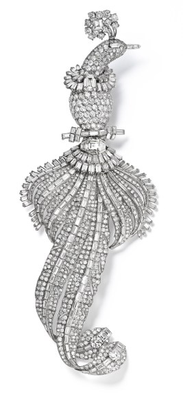 Broche Oiseau Platine, Or, Diamants Cartier 1948