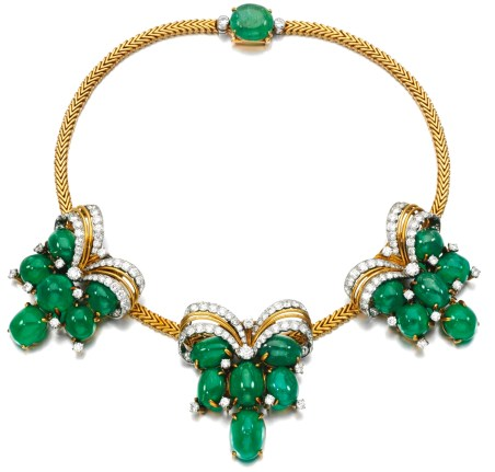Cartier Collier Émeraudes, Diamants, Or 1950