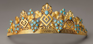 Tiare Inspiration Grecque Turquoise, Or. Vers 1825 © Chaumet
