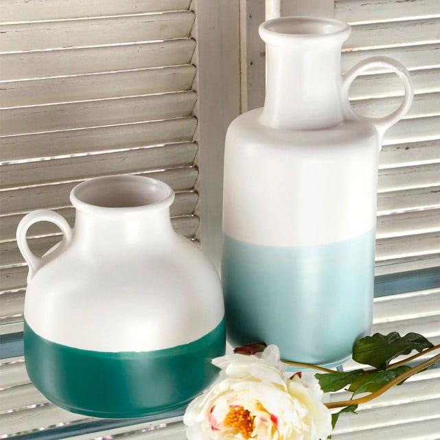 vase céramique bleu