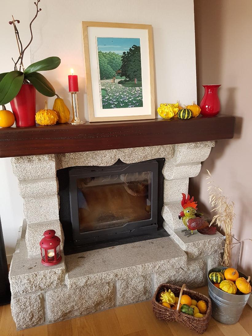 décoration automne coloquinte