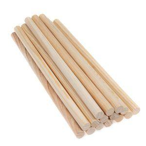 batonnet et barre bois pour macrame