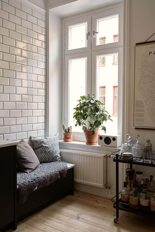 Un appartement cosy en Suède du site Historakahem.se